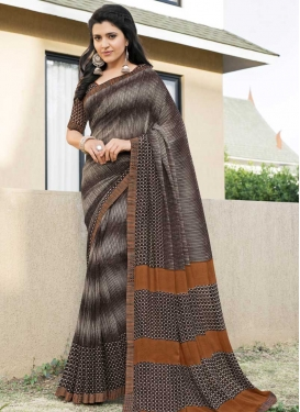 Faux Georgette Designer Traditional Saree