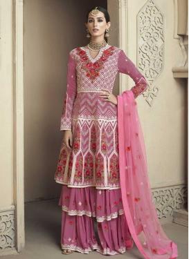 Faux Georgette Embroidered Work Palazzo Designer Salwar Kameez