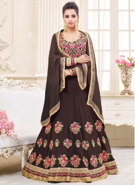 Faux Georgette Embroidered Work Salwar Kameez