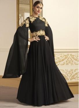 Faux Georgette Embroidered Work Trendy Designer Salwar Kameez