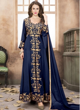 Faux Georgette Embroidered Work Trendy Designer Salwar Suit