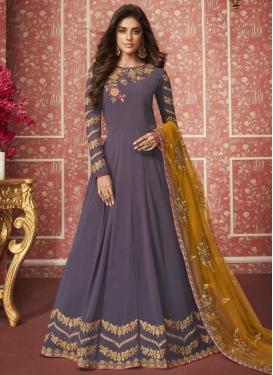 Faux Georgette Floor Length Anarkali Salwar Suit