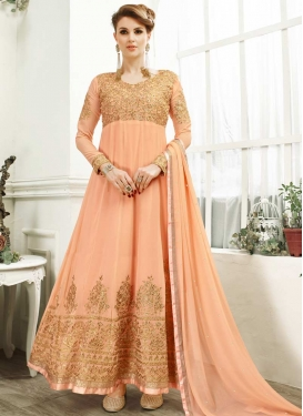 Faux Georgette Floor Length Anarkali Salwar Suit For Ceremonial