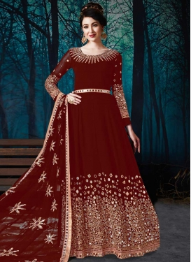 Faux Georgette Floor Length Anarkali Salwar Suit For Ceremonial