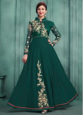 Faux Georgette Floor Length Designer Salwar Suit For Ceremonial