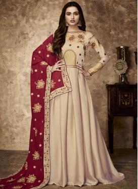 Faux Georgette Floor Length Designer Salwar Suit For Party