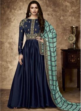 Faux Georgette Floor Length Designer Suit