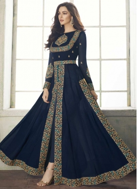 Faux Georgette Floor Length Designer Suit