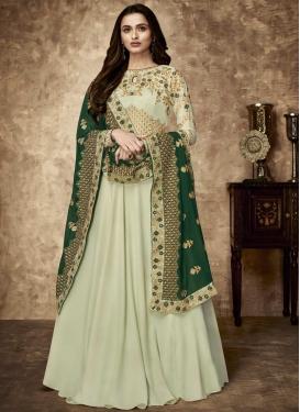 Faux Georgette Floor Length Salwar Suit For Party