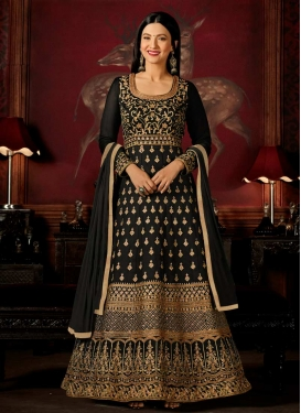 Faux Georgette Gauhar Khan Floor Length Anarkali Salwar Suit