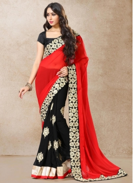 Faux Georgette Half N Half Saree For Ceremonial