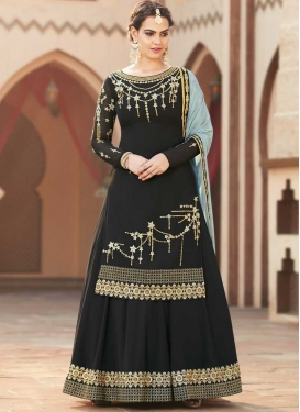 Faux Georgette Kameez Style Lehenga Choli For Ceremonial