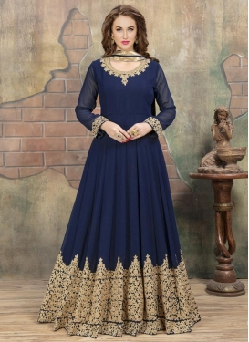 Faux Georgette Long Length Anarkali Suit