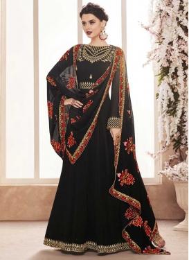 Faux Georgette Long Length Designer Anarkali Suit
