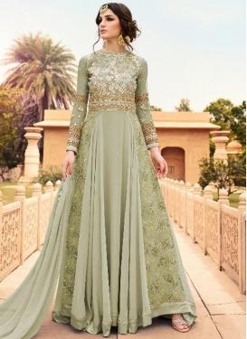 Faux Georgette Long Length Designer Suit