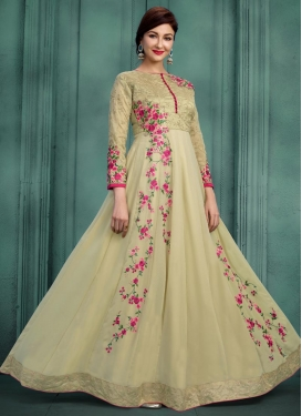 Faux Georgette Long Length Designer Suit