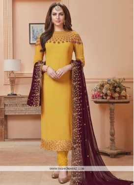 Faux Georgette Long Length Pakistani Salwar Suit For Festival