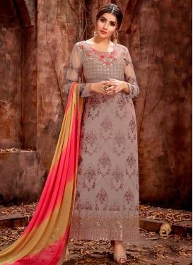 Faux Georgette Long Length Trendy Pakistani Suit For Ceremonial