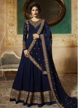 Faux Georgette Nargis Fakhri Anarkali Salwar Suit For Party