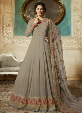 Faux Georgette Nargis Fakhri Trendy Anarkali Salwar Suit For Festival