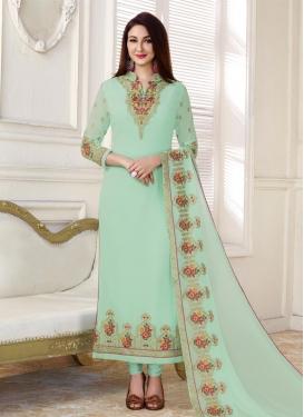 Faux Georgette Pakistani Straight Salwar Kameez