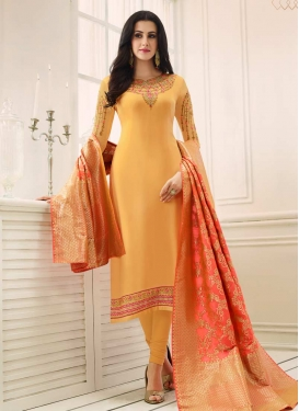 Faux Georgette Pakistani Straight Salwar Suit