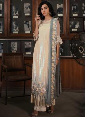 Faux Georgette Pakistani Straight Salwar Suit