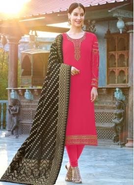 Faux Georgette Pakistani Straight Salwar Suit For Ceremonial