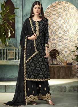 Faux Georgette Palazzo Straight Suit