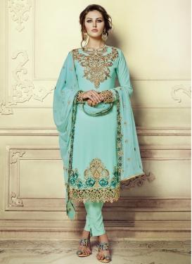 Faux Georgette Pant Style Designer Salwar Kameez