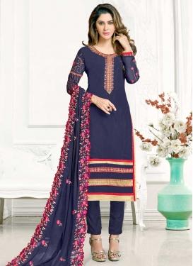 Faux Georgette Pant Style Designer Salwar Suit