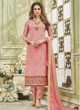 Faux Georgette Pant Style Pakistani Salwar Kameez