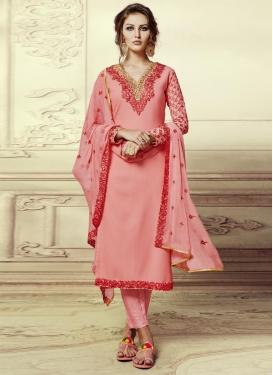 Faux Georgette Pant Style Pakistani Salwar Suit