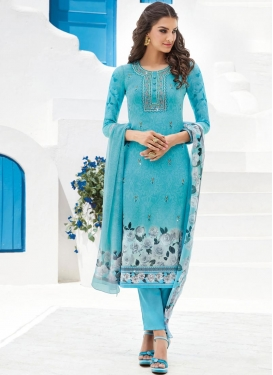 Faux Georgette Pant Style Pakistani Salwar Suit For Festival