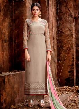 Faux Georgette Pant Style Pakistani Salwar Suit For Festival