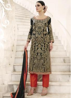 Faux Georgette Pant Style Salwar Kameez For Festival