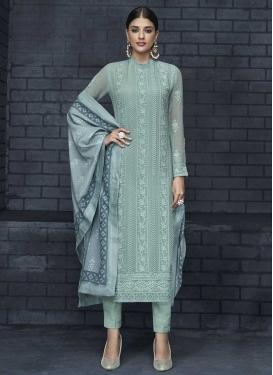Faux Georgette Readymade Salwar Suit