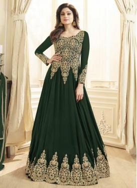 Faux Georgette Shamita Shetty Long Length Designer Anarkali Suit