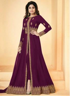 Faux Georgette Shamita Shetty Trendy Designer Salwar Kameez For Festival