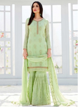 Faux Georgette Sharara Salwar Kameez