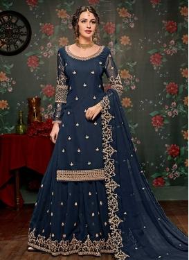 Faux Georgette Sharara Salwar Suit For Ceremonial