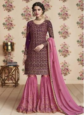 Faux Georgette Sharara Salwar Suit For Festival