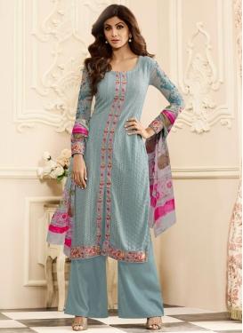 Faux Georgette Shilpa Shetty Designer Palazzo Suit