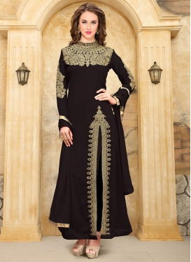 Faux Georgette  Straight Salwar Kameez For Ceremonial