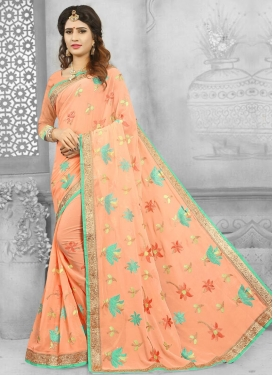 Faux Georgette Traditional Designer Saree