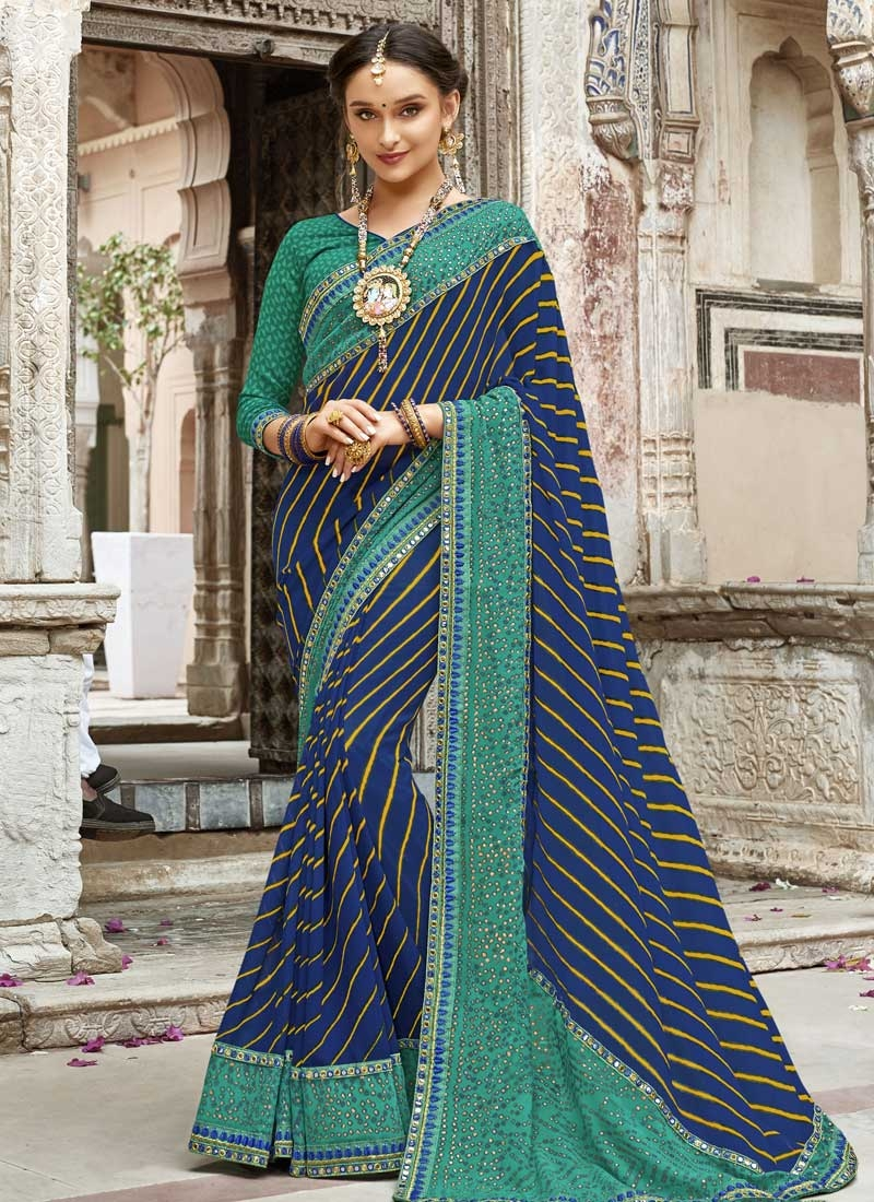 Faux Georgette Traditional Designer Saree For Ceremonial