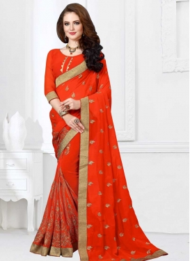 Faux Georgette Traditional Designer Saree For Festival