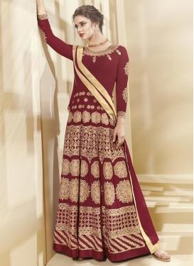 Faux Georgette Trendy Anarkali Salwar Kameez