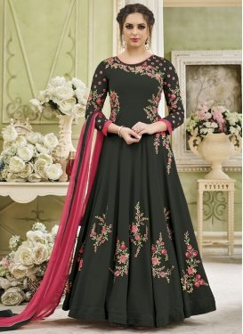 Faux Georgette Trendy Anarkali Salwar Suit