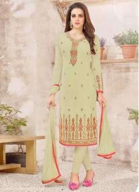 Faux Georgette Trendy Churidar Salwar Suit
